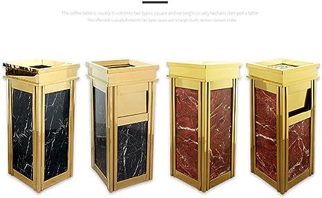 Byrhgood Cubo Vertical para Basura de Acero Inoxidable Titanio Cubo de Ceniza de mármol de Acero Inoxidable (Color : B): Amazon.es: Hogar