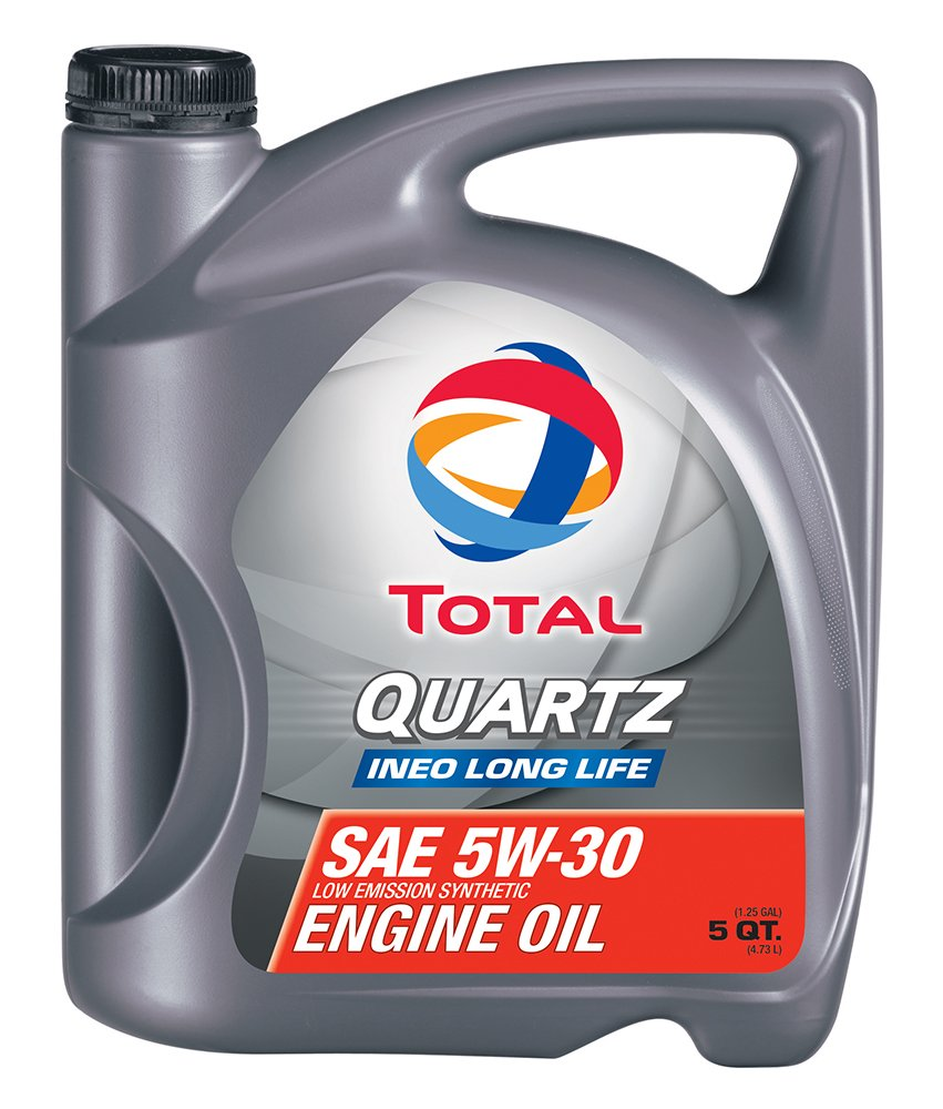 TOTAL 188058-3PK Quartz INEO Long Life 5W-30 Engine Oil - 5 Quart (Pack of 3) by Total
