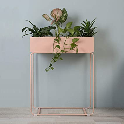 Tall Indoor Plant Stand with Planter Pot 2 in 1 Modern Metal Floor Flower Pot & Amazon.com : Tall Indoor Plant Stand with Planter Pot 2 in 1 Modern ...