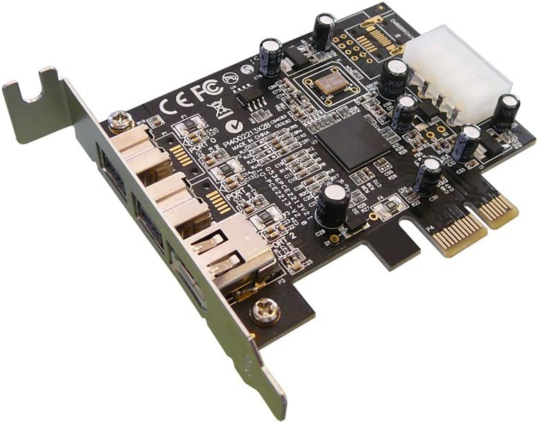 Pcie To Firewire 800 Ieee1394b And Firewire 400 Ieee1394a Controller Card Pci Express 1x Chipset Texas Instruments Low Profile Version Amazon Co Uk Computers Accessories