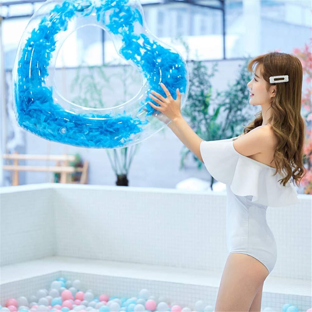 JCT Aufblasbarer Schwimmring Luftmatratze Schwimmreifen Sommerliches Wasserspielzeug Aufblasbar Schwimmring f/ür Erwachsene Kinder Herzform Schwimmring 90cm, Gold
