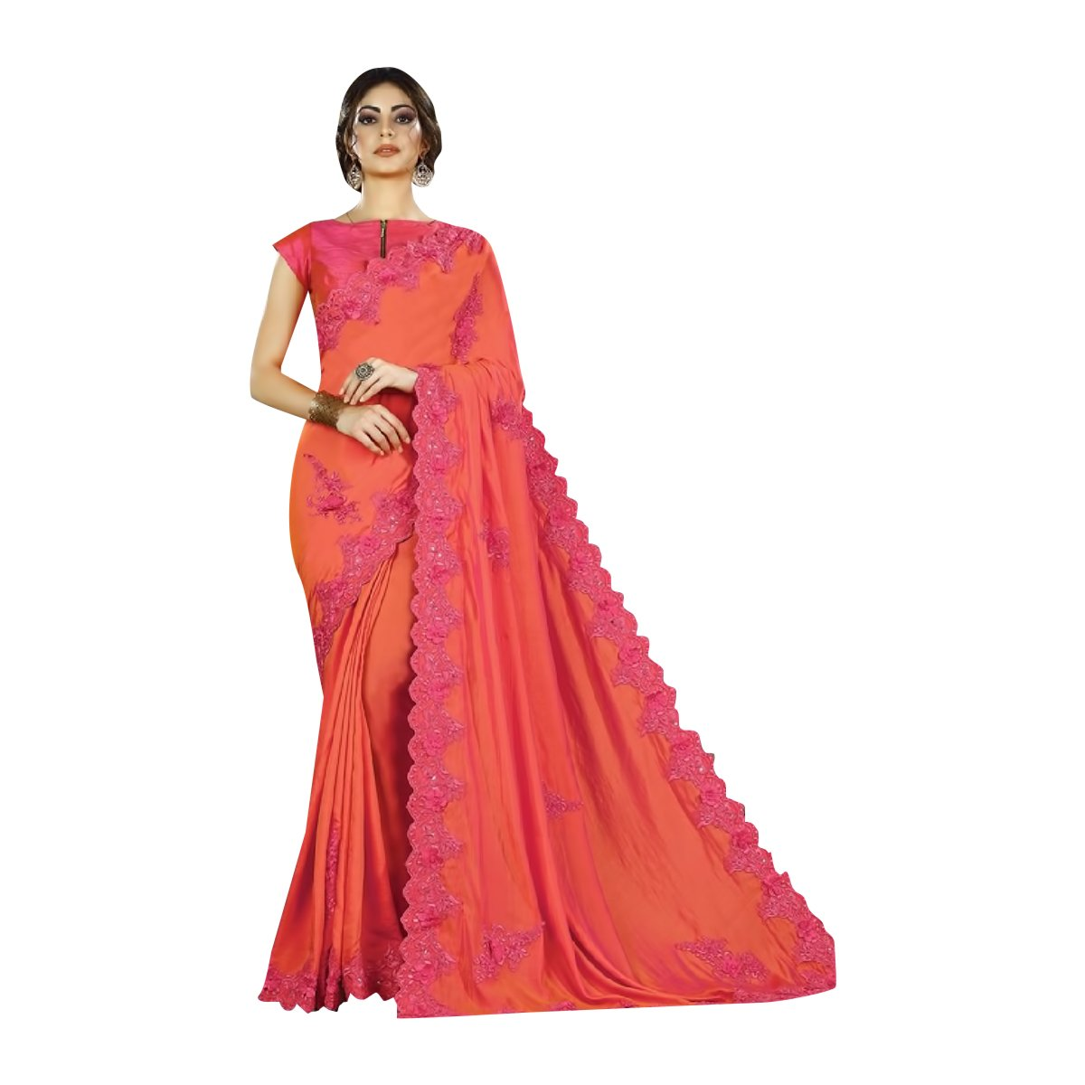 Designer RichLook Party Wear Indian Saree Wedding Bridal Suit Lehenga Women Dress 506