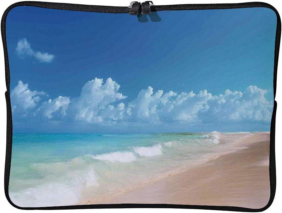 C COABALLA Hawaiian Decorations,Tropical Seacoast Wavy Cushion Protective Waterproof Laptop Case Bag Sleeve for Laptop AM017303 13 inch//13.3 inch