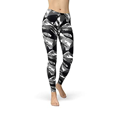 ee8309c3a61c0 Image Unavailable. Image not available for. Color: Camo Leggings for Women  Military Urban Camouflage ...