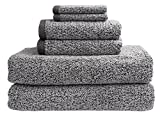 Everplush Diamond Jacquard Bath Sheet 6 Piece Value Pack in Grey