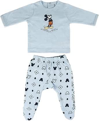 Cerdá Conjunto Ropa Disney Bebe de Mickey Mouse Juego de Pijama para Bebés