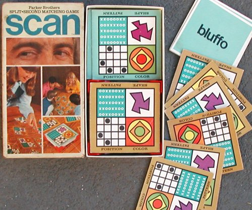 Scan Card Game Split Second Matching Game from Parker Brothers