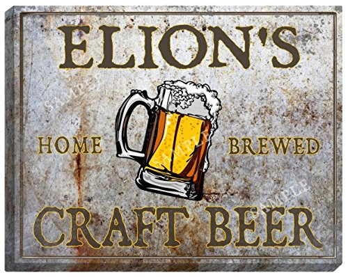 elions-craft-beer-stretched-canvas-sign