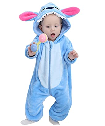 d296de120 Amazon.com  Patedan Unisex Baby Flannel Romper Cute Animal Pajamas ...