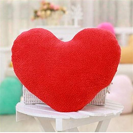 WMING Home Cojín en Forma de corazón, Almohada con Forma de ...
