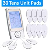 Tens Unit Machine + 30 Palm Pads ($20 Value) - Relieves Pain Quickly - 12 Unique Modes for Different Muscles - As Powerful as Physical Therapist Devices - Portable - Rechargeable - FDA Registered