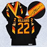 Tiger Williams Vancouver Canucks Autographed Flying V Retro CCM Hockey Jersey