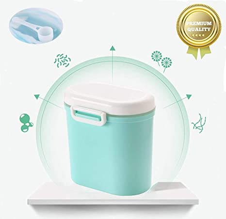 Luchild Milchpulver-Spender Tragbarer Baby-Milchpulver-Beh/älter Formel Milchpulver-Vorratsbeh/älter mit Gleichmacher 600ML Blau