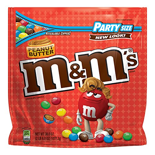 M&M's Peanut Butter Chocolate Candy Party Size 38-Ounce -