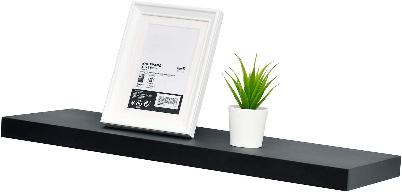 Black 36-Inch WELLAND Simons Floating Wall Shelf Ledge Shelves
