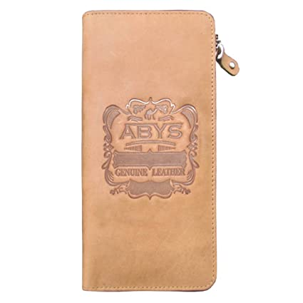 ABYS Genuine Leather Women Tan Wallet||Hand Bag||Mobile Holder||Clutch