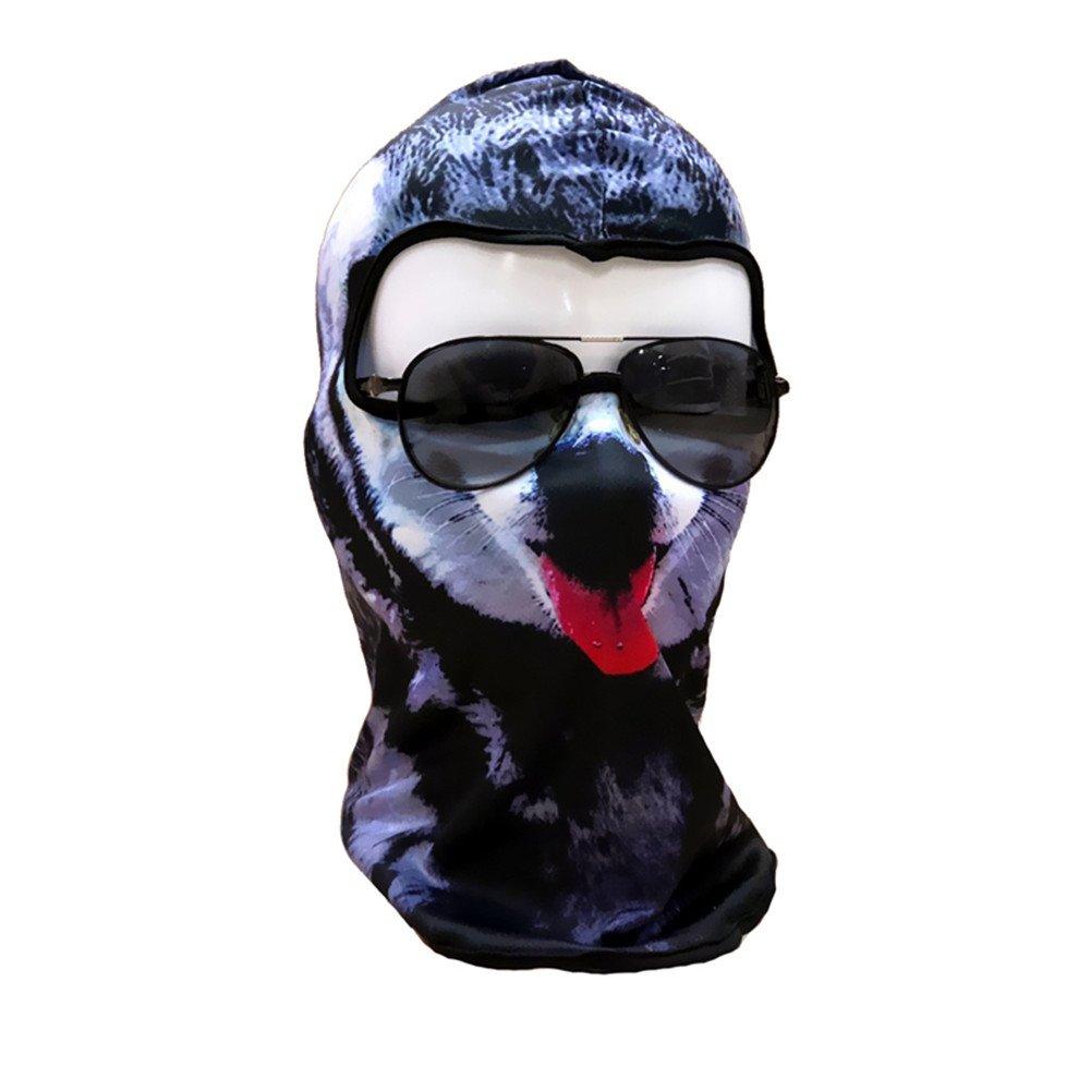 Aesy Bicicletas Cara Máscara, Bufanda de Ciclismo, Al Aire Libre 3D Serie Animal Arena contra el Viento Transpirable Ciclismo Riding Mascarilla Máscara (A2#)