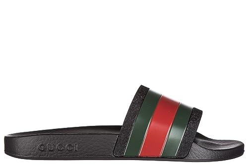 Gucci Ciabatte Uomo In Gomma Nuovo Originale Porelai - Sandalias de Vestir  de Goma para Hombre Negro Negro Negro Size  44  Amazon.es  Zapatos y  complementos 6a8a72d3828