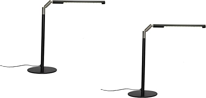360° Faltbar 2x LED Tischlampe Schreibtischlampe Büro Tischleuchten Nachttisch