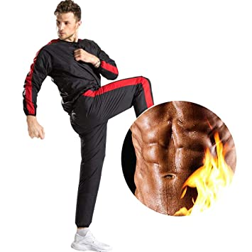 MINIRAH! Traje de Sauna Heavy Duty Sudor Movimiento Gym ...