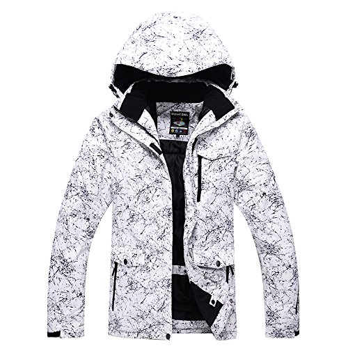 Fashion Women's High Waterproof Windproof Snowboard Colorful Printed Ski Jacket and Pants (style5, S)