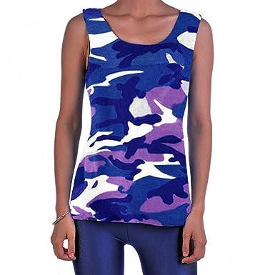 Nouveau femme armée camouflage imprimé léopard sans manches casual gilet top 8-14