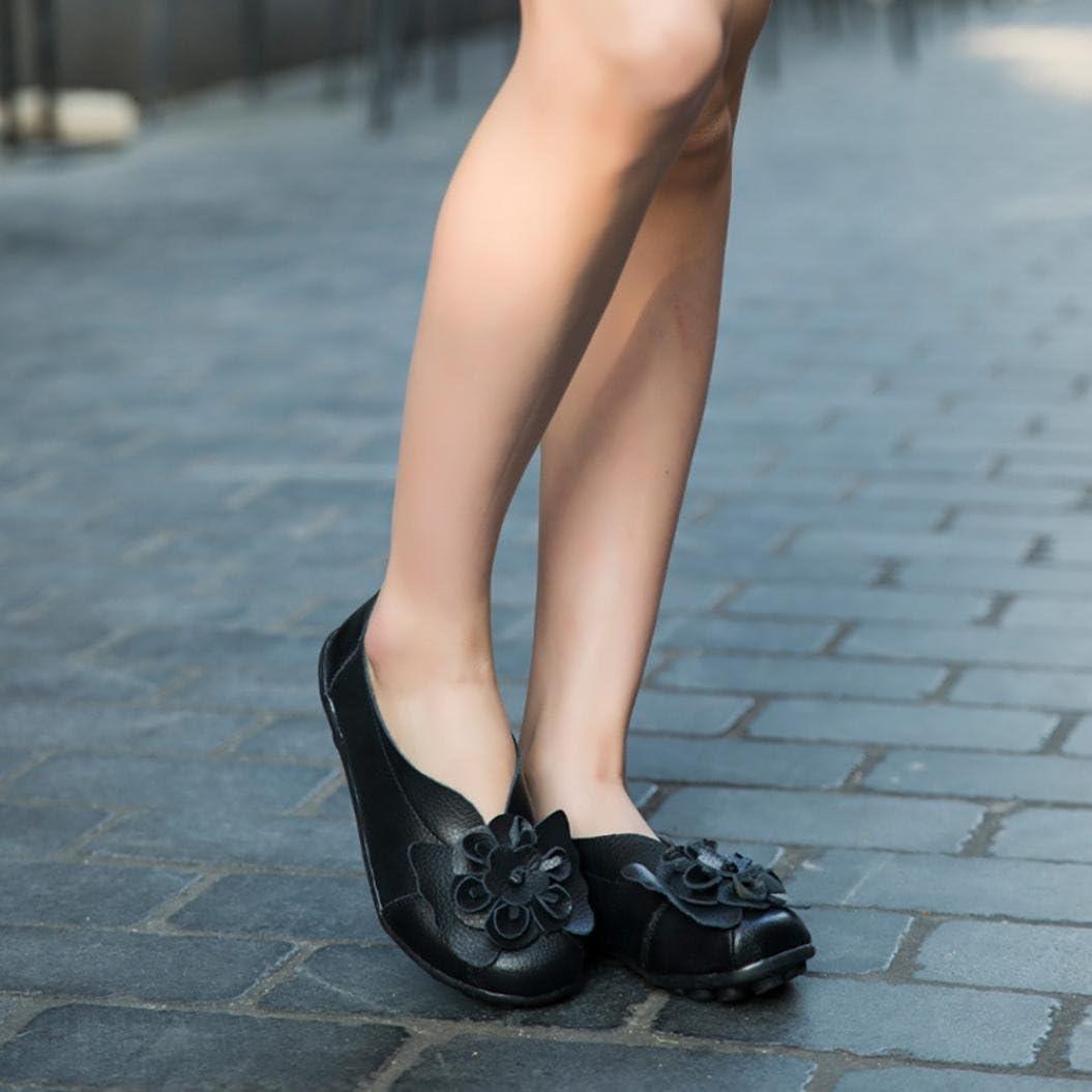 Bateau Soldes Automne Hiver Casual Danse Slip on Flats Overdose-Chaussures Mocassins en Cuir Fille Femme Causal