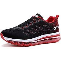 Air Zapatillas de Deportes Hombre Mujer Zapatos Deportivos Running Zapatillas para Correr Ligero y con Estilo Negro Rojo…