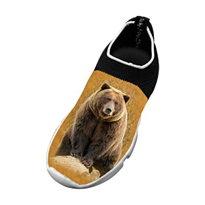 Sports Flywire Knitting Sports Shoes For Unisex Children,Print The Bear,