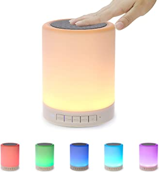 Bluetooth Speaker Night Light Changing Wireless Speaker Portable 6 Color LED