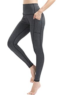 3e517d28bb496 Vogyal High-Waist Yoga Pants Tummy Control 4 Way Stretch Workout Leggings  with Pockets