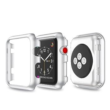 Para Apple reloj serie 3 caso, amoyl iWatch Protector de pantalla completa cubierta de metal para Apple reloj 3 42 mm/38 mm: Amazon.es: Electrónica