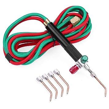 Foru-1 - Kit de Soldadura de Gas para Pistola de acetileno de oxígeno para Metal: Amazon.es: Electrónica