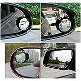 amiciKart® Original iPop Flexible Car Blind Spot Wide Angle Convex Side Rear View Mirror