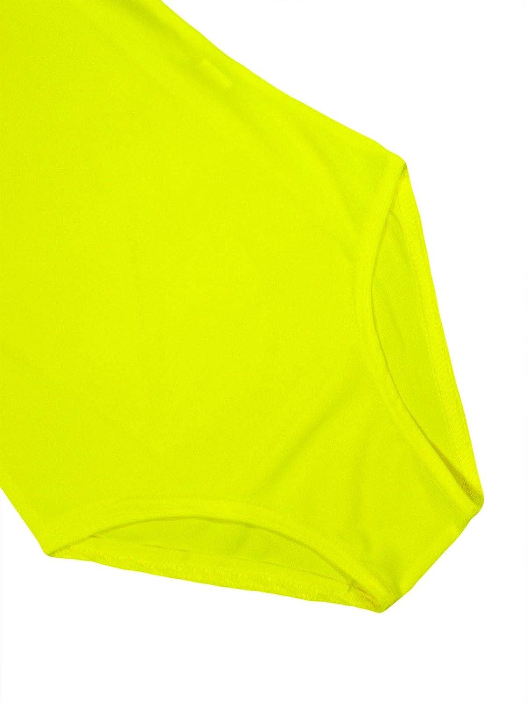JollyRascals Girls Dance Gymnastic Bodysuit Kids New Long Sleeve Ballet Leotard Top Neon Pink Yellow Orange Green Black White Dance Wear Outfit Age 5 6 7 8 9 10 11 12 13 Years