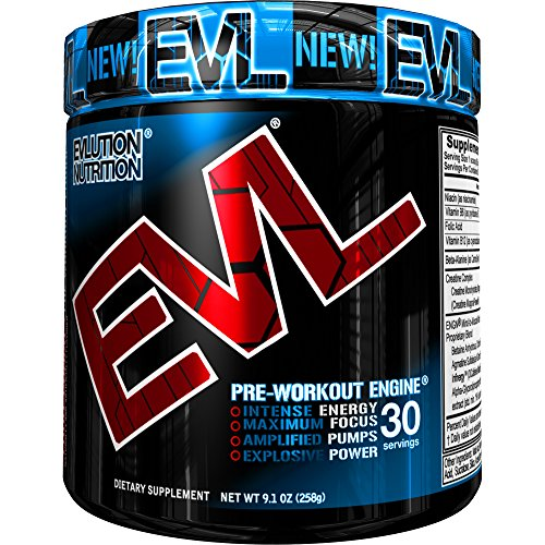 Evlution Nutrition ENGN Pre workout, Pikatropin Free, Watermelon, 30 Servings, Intense Pre Workout Powder for Increased Energy, Power, and Focus