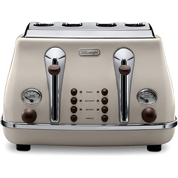 Delonghi Vintage Icona Cream 4 Slice Toaster
