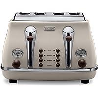 De'Longhi Icona Vintage 4 Slice Toaster, Beige