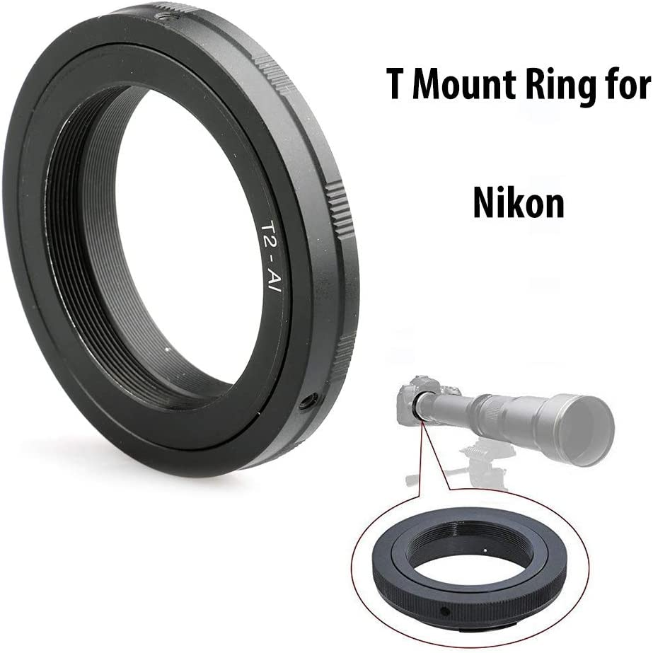 Fotodiox Lens Mount Adapter Compatible with T-Mount T//T-2 Thread Lenses to Nikon F-Mount Cameras