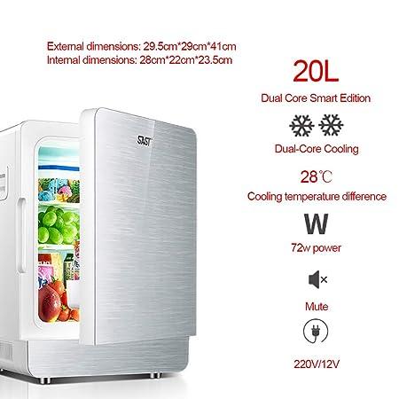 Mini refrigerador Nevera silenciosa 20L y Calentador 12V / 220V ...