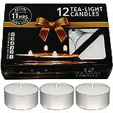 Nanki Trades Wax Tea Light Candle (White, Set of 12, 11 Hours Burn Time)