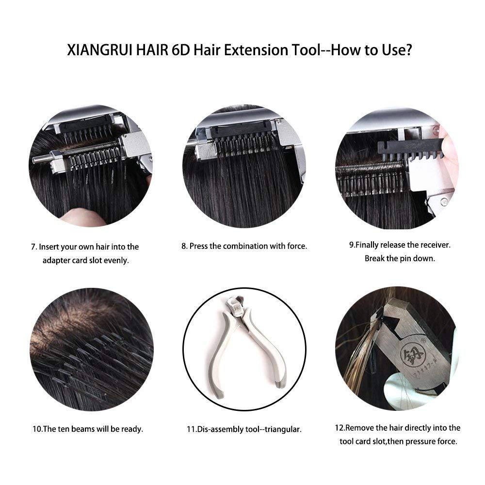 Amazon com : XIANGRUI HAIR High-end 6D Hair Extensions Tool Fast