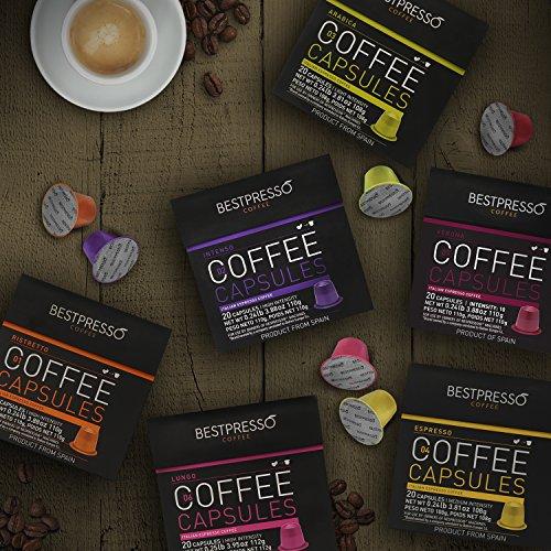 Bestpresso Coffee for Nespresso OriginalLine Machine 120 pods Certified Genuine Espresso Variety Pack, Pods Compatible with Nespresso OriginalLine by Bestpresso (Image #3)