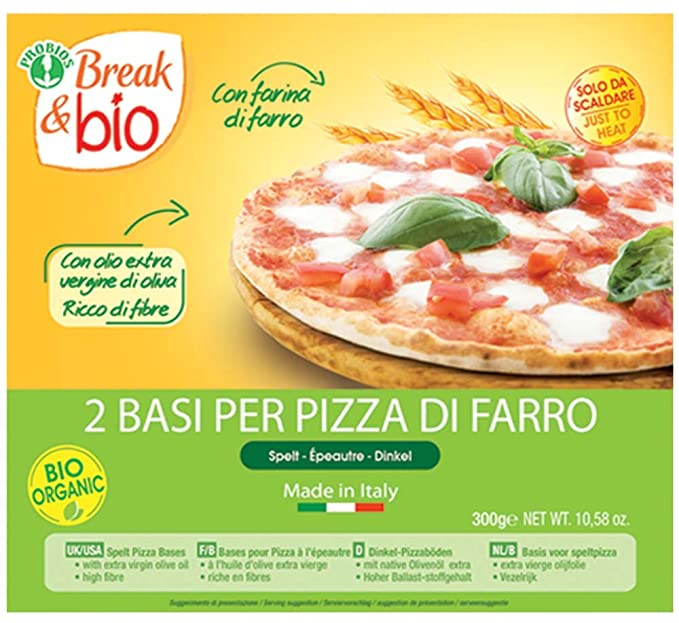 Probios Break&Bio Base Para Pizza de Espelta - 10 paquetes: Amazon ...