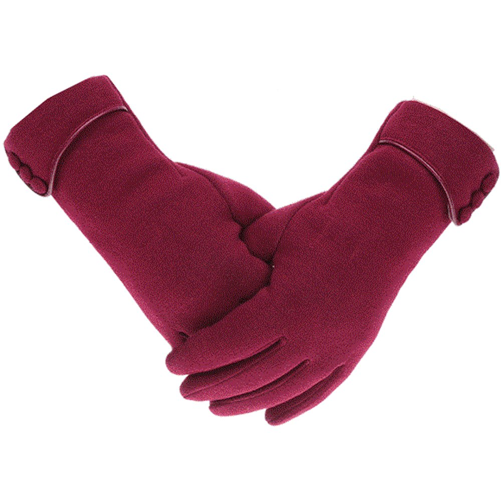Womens Lady Winter Warm Gloves Touch Screen Phone Windproof Lined Thick Gloves Woogwin