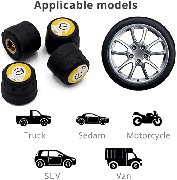 Toogoo Automotive Reifendruck Kontrolle Reifendruck Tester Intelligente Reifen Sicherheitsmonitor App Verbindung Tpms Mit Schluessel Auto