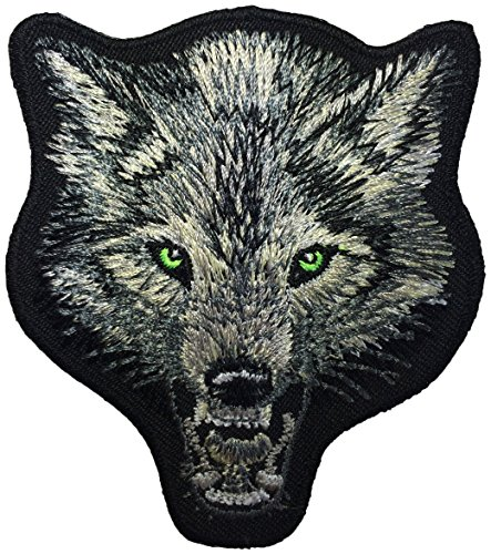 Wolf Head Fox DIY Biker Jacket Vest Applique Embroidered Sew Iron on Emblem Badge Costume Patch By Ranger Return