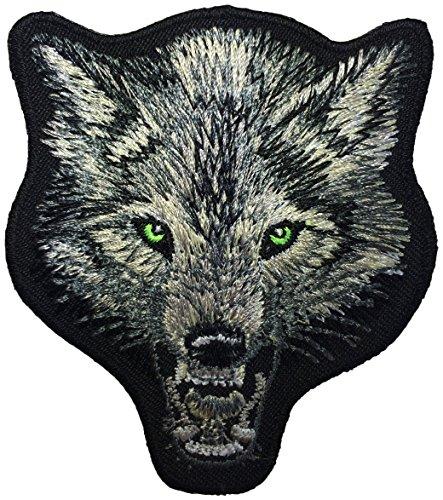 Diy Aviator Costume (Wolf Head Fox DIY Biker Jacket Vest Applique Embroidered Sew Iron on Emblem Badge Costume Patch By Ranger Return)