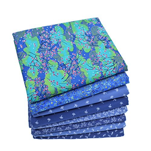 iNee Fat Quarters Quilting Fabric Bundles, Sewing Quilting Fabric, 18 x 22 inches,(Navy Blue)