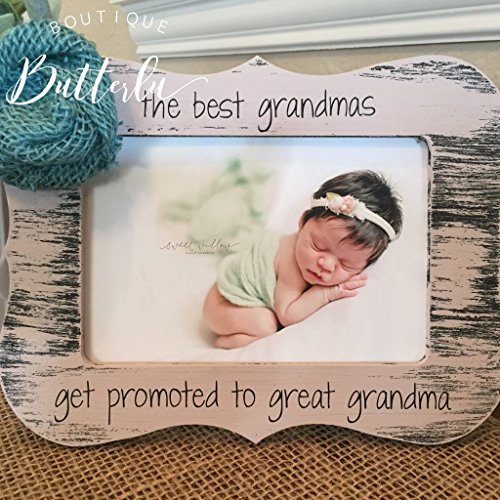 Grandma Picture Frame - Gift For Grandma - Great Grandma - Baby Announcement - We're Pregnant - Personalized Frame Gift - Can Be Customized With Quote Of Your Choice